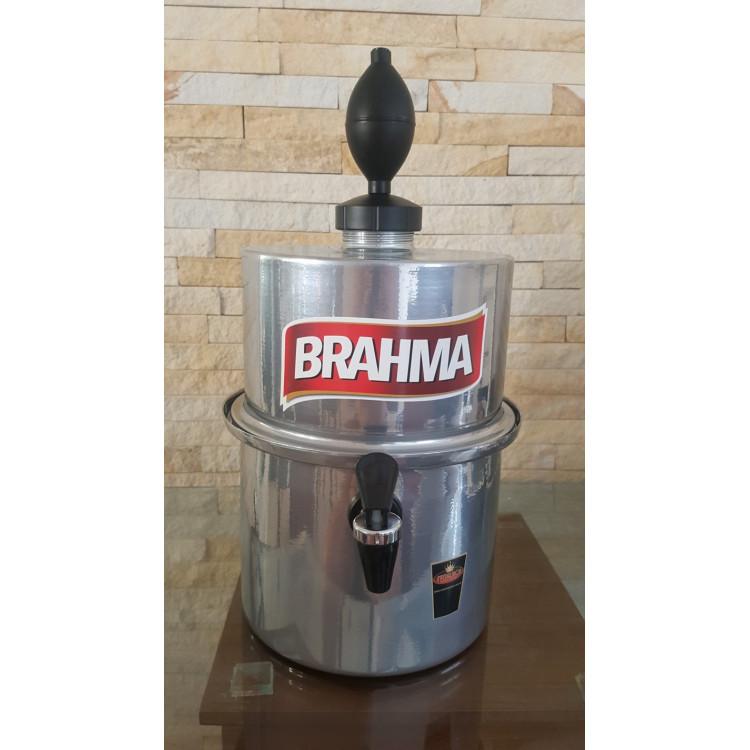 Chopeira Portátil 3,5 litros Brahma Prata FRETE GRÁTIS