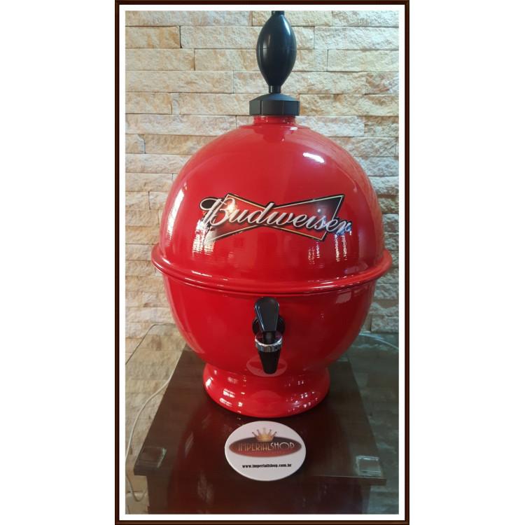 Chopeira Portátil 6,6 litros Budweiser Vermelho FRETE GRÁTIS