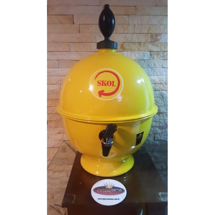 Chopeira Portátil 6,6 litros Skol amarelo