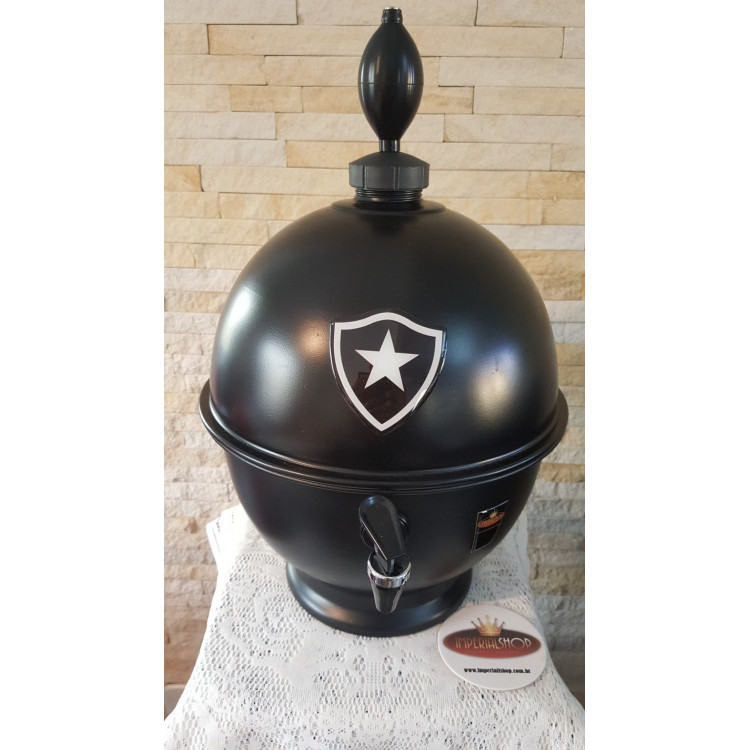 Chopeira Portátil 6,6 litros Botafogo Preto