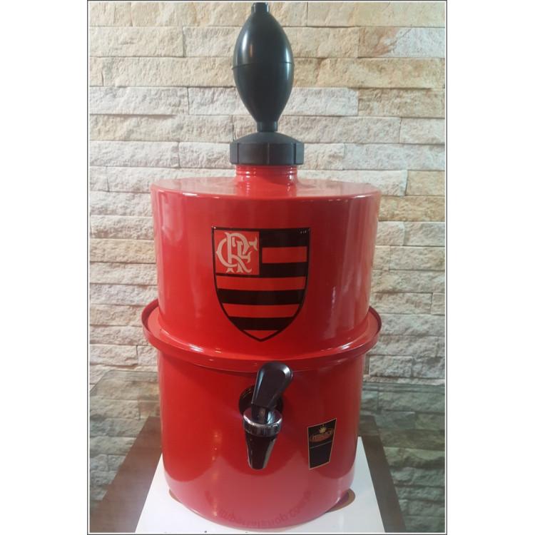 Chopeira Portátil 3,5 litros Flamengo Vermelho
