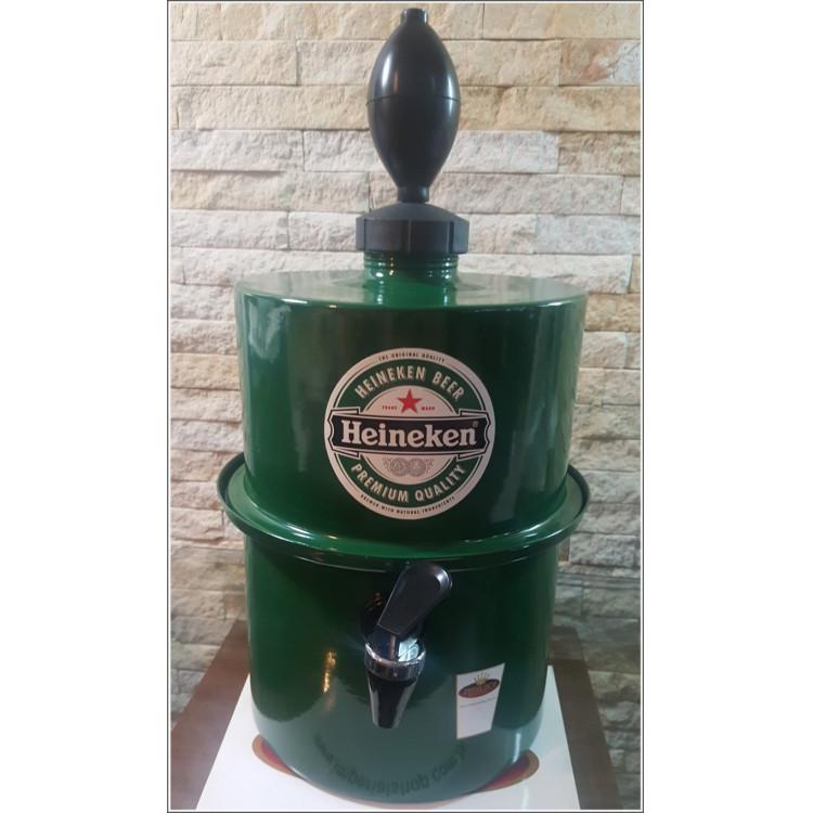 Chopeira Portátil 3,5 litros Heineken Verde FRETE GRÁTIS
