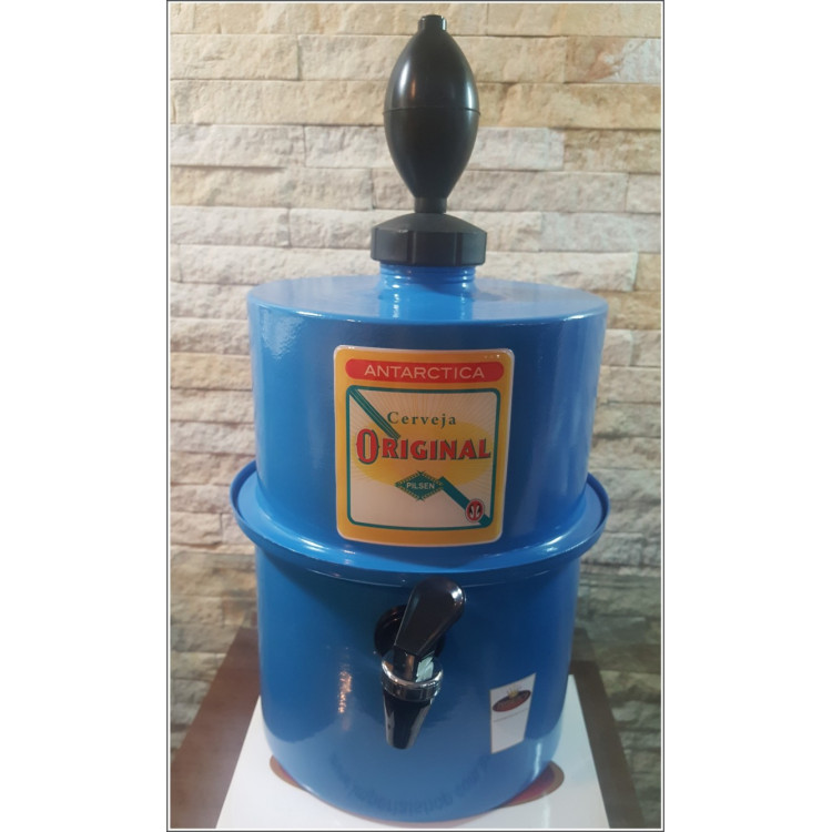 Chopeira Portátil 3,5 litros Antarctica Original  Azul