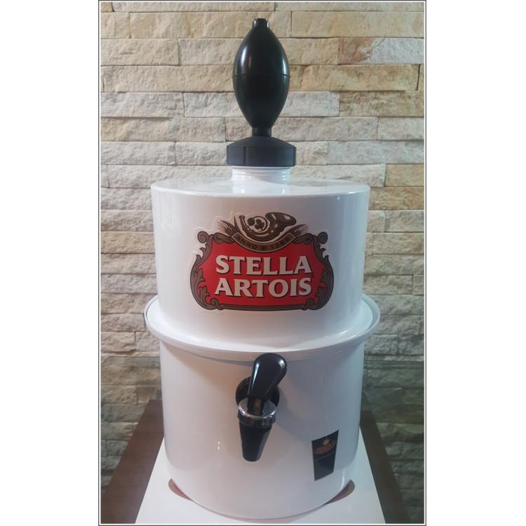 Chopeira Portátil 3,5 litros Stella Artois Branco FRETE GRÁTIS
