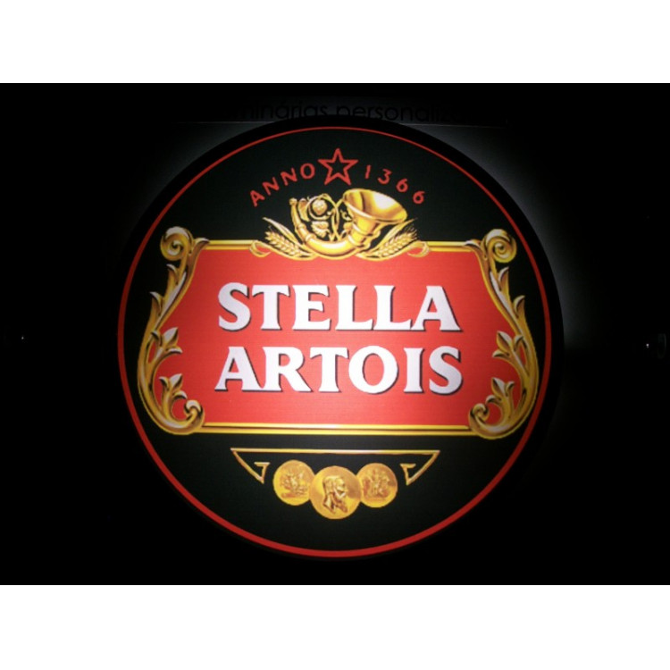 Luminoso Stella Artois Preto