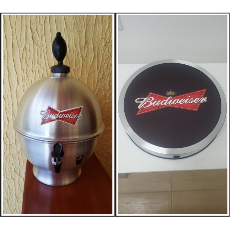 Chopeira Portátil 6,6 litros Budweiser+ Luminoso 25 cm FRETE GRÁTIS