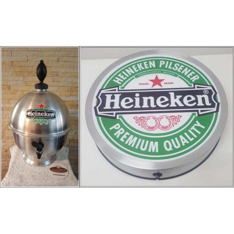 Chopeira Portátil 6,6 litros Heineken+ Luminoso 25 cm