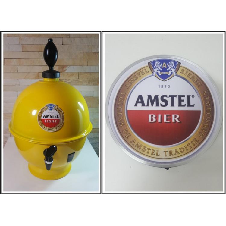 Chopeira Portátil 6,6 litros Amstel+ Luminoso 25 cm