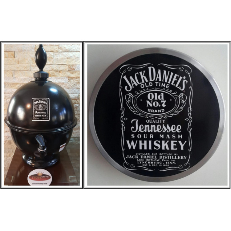 Chopeira Portátil 6,6 litros Jackie Daniels+ Luminoso 25 cm